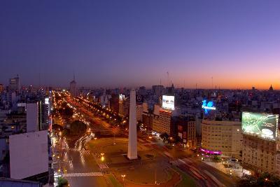 Argentina, Buenos Aires, Avenida 9 De Julio, Plaza of De La Republica, Obelisk