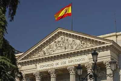 Spain, Madrid, Spanish's National-Parliament, Outside, Detail