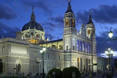 Spain, Madrid, Cathedral Nuestra Senora De Alpudena, Twilight