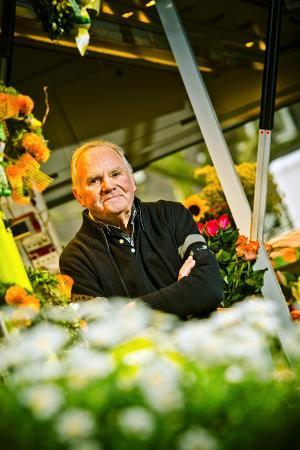 Germany, Hamburg, Flower Market, Flower Stall, Owner