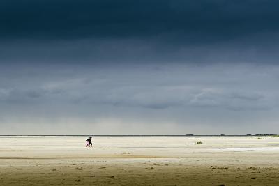 Germany, Schleswig-Holstein, Amrum, Sandy Beach, Sandbank, Kniepsand, Stroller