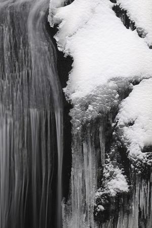 Germany, Baden-Wurttemberg, Black Forest, Triberg Waterfall in Winter