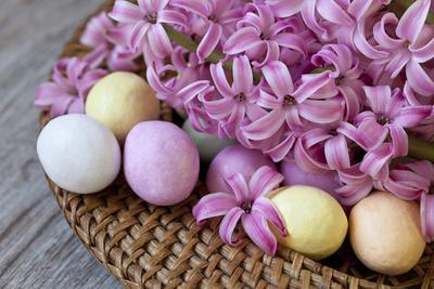 Hyacinth Blossoms and Easter Eggs