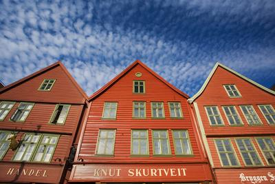 Scandinavia, Norway, Mountains, Bryggen, Frontage, Exterior