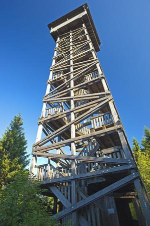 Germany, Hessen, Jesberg, Electoral Hesse Mountain Country, Kellerwald, Observation Tower