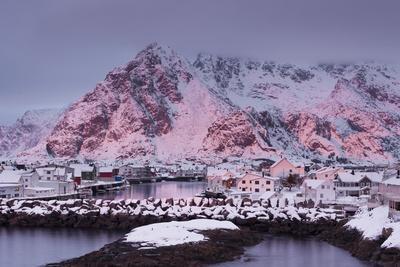 Henningsvaer (Fishing Village), Ausvagoya (Island), Lofoten, 'Nordland' (County), Norway