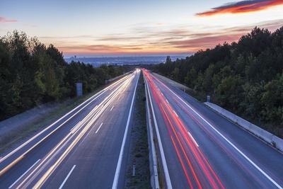 Wiener Au§enring Autobahn A21' (Highway), View from Gie§hŸbl to Vienna, Austria, Europe