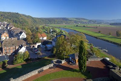 Germany, Lower Saxony, Weser Hills, Polle, Townscape
