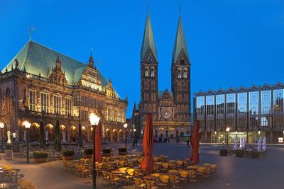 Town Hall, Cathedral, Town Hall Square, Bremen, Germany, Europe