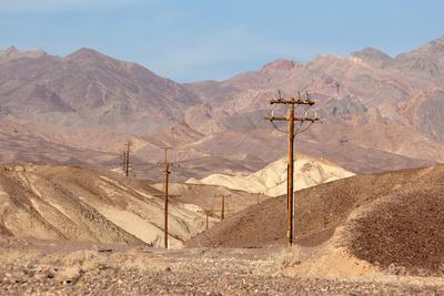 USA, Death Valley National Park, Power Poles