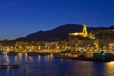 France, Cote D'Azur, Menton, Harbour, Evening
