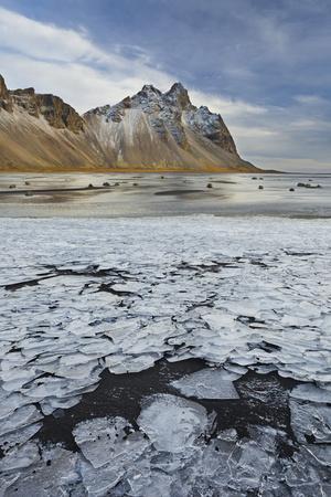 Kambhorn (Mountain), Stokksnes (Headland), Hornsvik (Lake), East Iceland, Iceland