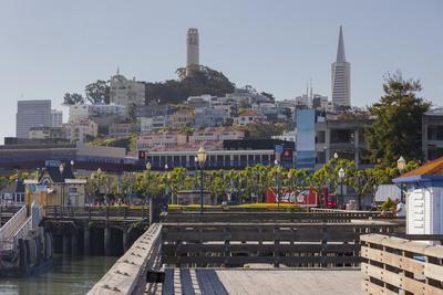 Coit Tower Aa Telegraph Hill, Transamerica Pyramid, Pier 39, San Francisco, California, Usa