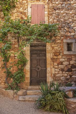 Old Door and House Facade in the Provence