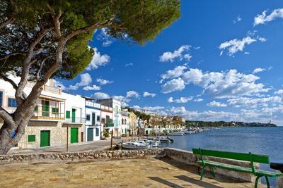 Europe, Spain, Majorca, Fishing Village Porto Colom, Harbour