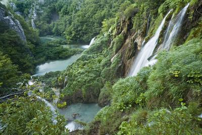 Croatia, National Park Plitvice, Waterfall