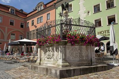Germany, Bavaria, Regensburg, Krauterer Markt