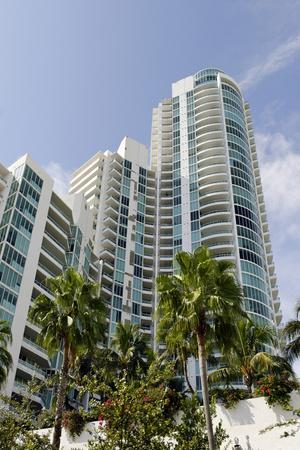 Apartment Tower at the South Pointe Beach, Miami South Beach, Art Deco District, Florida, Usa