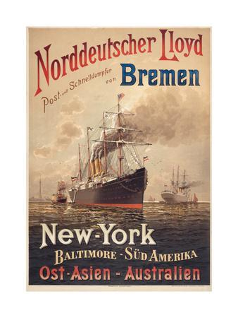 North German Lloyd Steamship Lahn
