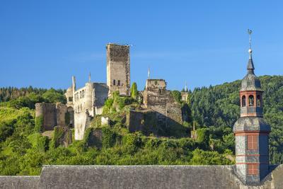 Metternich Castle About Saint Josef Church, Beilstein, Moselle River, Rhineland-Palatinate, Germany