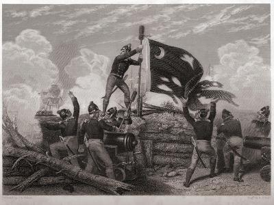 Raising the Flag over Fort Moultrie