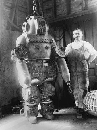 Diver with Diving Suit