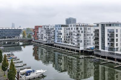 Germany, Hesse, Frankfurt Am Main, View to Residential Buildings at West Harbour