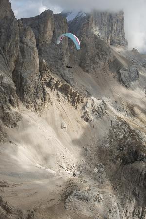 Canazei, Dolomites, Paraglider, Italy, Marmolada, Val Di Fassa
