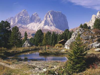 Italy, South Tyrol, Dolomites, Langkofel, Sella, Pordoijoch