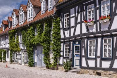 Germany, Hessen, Taunus, German Timber-Frame Road, Idstein, Old Town, Timber-Framed Facades