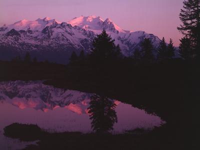 Switzerland, Pennine Alps, Dom De Mischabel, Evening Mood