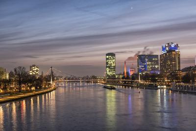 Frankfurt, Hesse, Germany, Frankfurt City Centre at Dusk
