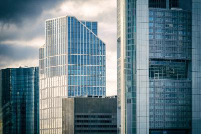 Germany, Hesse, Frankfurt on the Main, Windows of High-Rise Office Blocks