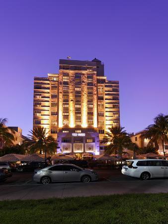 Hotel 'The Tides' at Dusk, Ocean Drive, Miami South Beach, Art Deco District, Florida, Usa