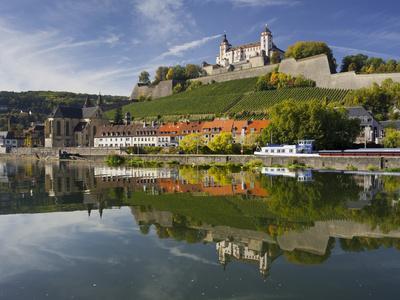 Fortress Marienberg, Main (River), WŸrzburg (City), Bavaria, Germany
