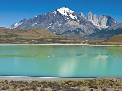 South America, Chile, Patagonia, Torres Del Paine National Park, Mountain Landscape