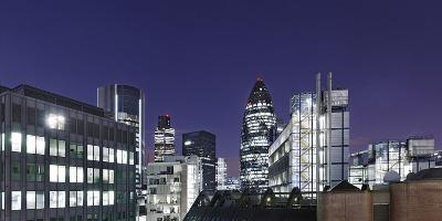 Panorama, City of London, Swiss-Re-Tower, 30 St. Mary Axe, England, Great Britain