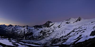 Panoramic View from the 'Neuen Prager HŸtte' (Alpine Hut) at Dawn, Venedigergruppe