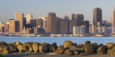 Skyline of San Francisco from Treasure Iceland, California, Usa