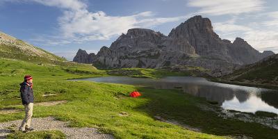 Traveller, Neunerkofel, Red Tent, Bšdenalpe, Bšdensee Lakes