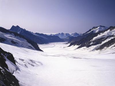 Switzerland, Valais, Mountain 'Jungfraujoch', Great Aletsch Glacier