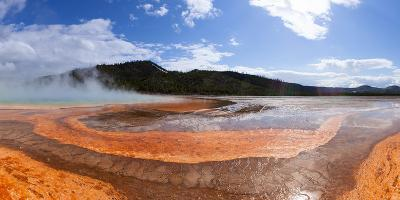 Panorama, USA, Yellowstone National Park, Grand Prismatic Spring