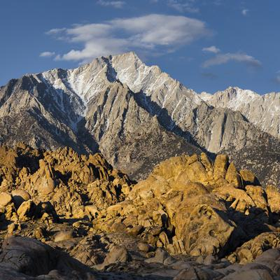 Tunnabora Peak, Mount Whitney, Alabama Hills, Near Lone Pine, Sierra Nevada, California, Usa