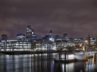 Southwark Bridge, City of London, the Thames, Night Photography, London, England, Uk
