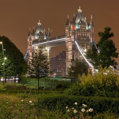 Tower Bridge, in the Evening, London, England, Great Britain