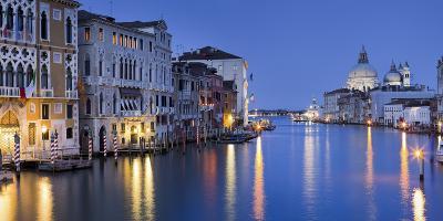 Italy, Veneto, Venice, Grand Canal, Santa Maria Della Salute, Dusk