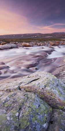 Norway, Nordland, Saltfjellet Svartisen National Park, Luonosvagge, River Semska