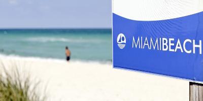 Beach Area, Near 83 Street, Miami South Beach, Atlantic Ocean, Florida, Usa