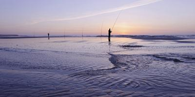Surf Angler on the Beach, Evening Mood, Praia D'El Rey