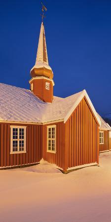 Flakstad Church, Flakstadoya (Island), Lofoten, 'Nordland' (County), Norway
